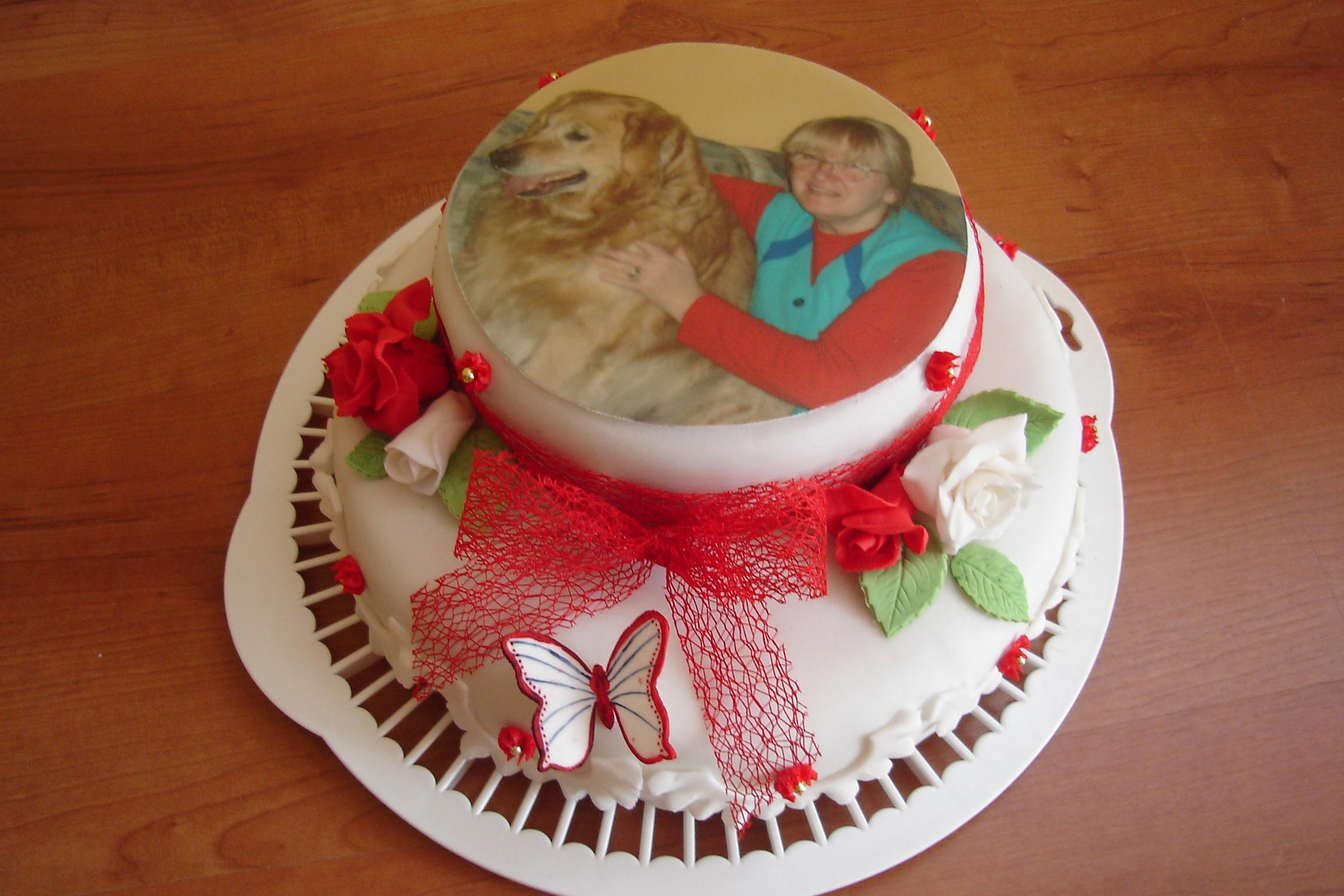 Украшение торта своими руками для бабушке