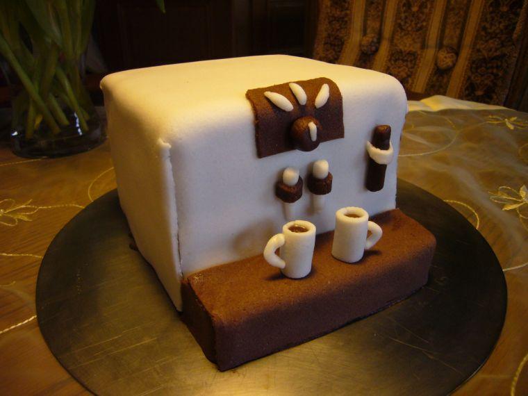 geburtstag erwachsene 2 fondant torte kaffeeautomat. Black Bedroom Furniture Sets. Home Design Ideas