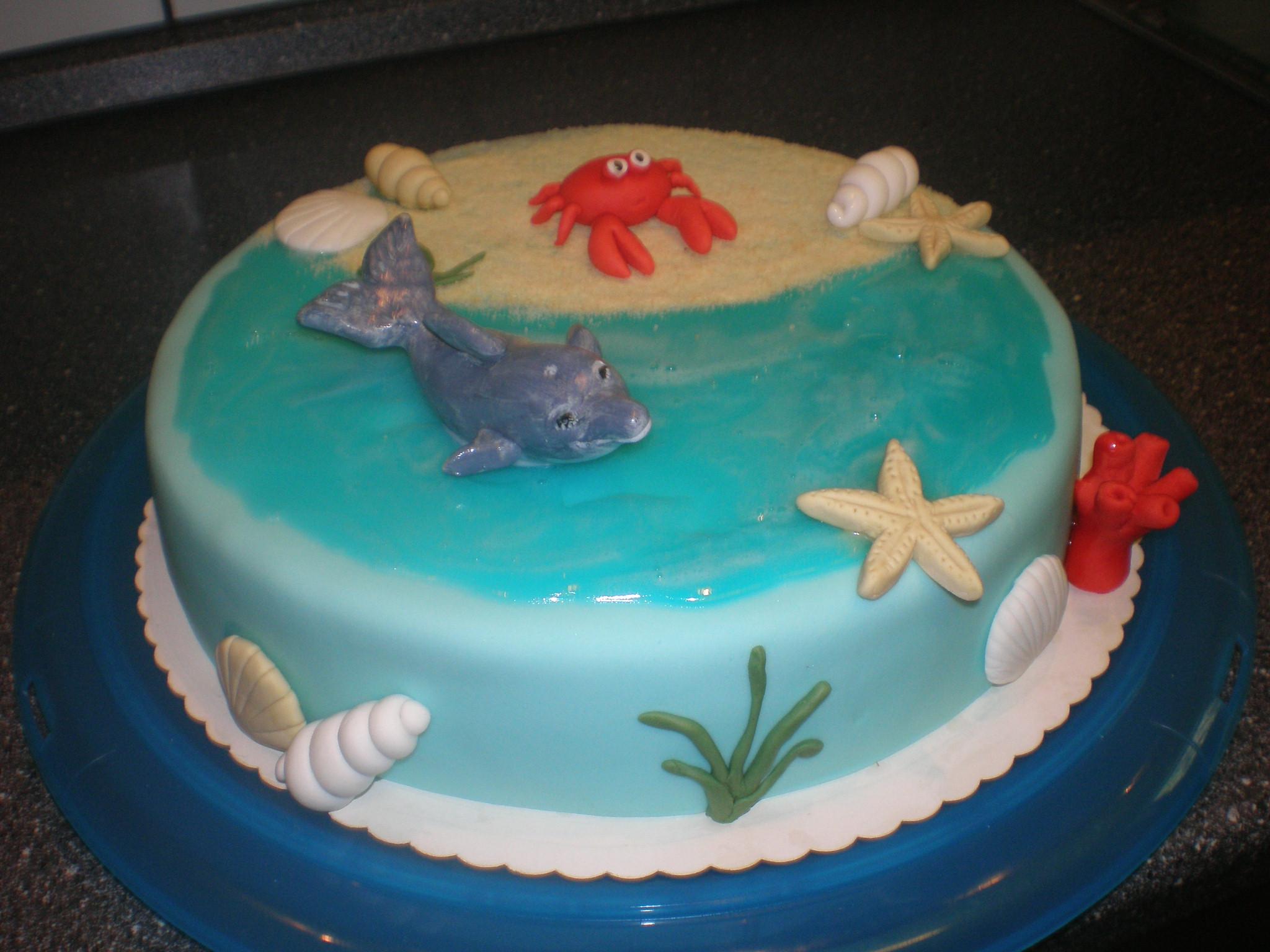 Does Cake Decorating Gel Harden : Geburtstag-Erwachsene   Delphintorte mit Piping Gel
