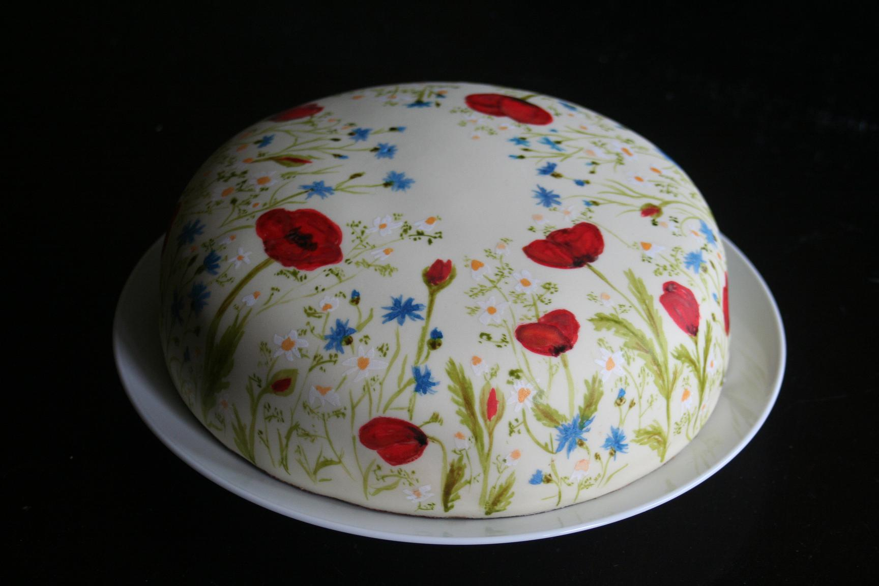 painted roses fondant cakes and torte on pinterest. Black Bedroom Furniture Sets. Home Design Ideas