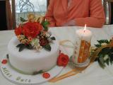 Rosentorte und Kerze zum 80iger.JPG