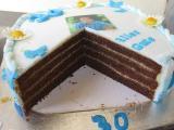 Andis Torte zum 30. Geb. Anschnitt.JPG