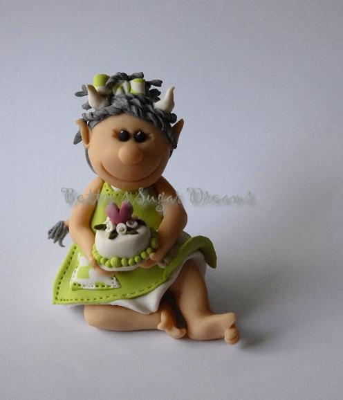 Modellierungen und deko aus nicht essbarem medium engel oder teufel - Fimo muttertagsgeschenk ...