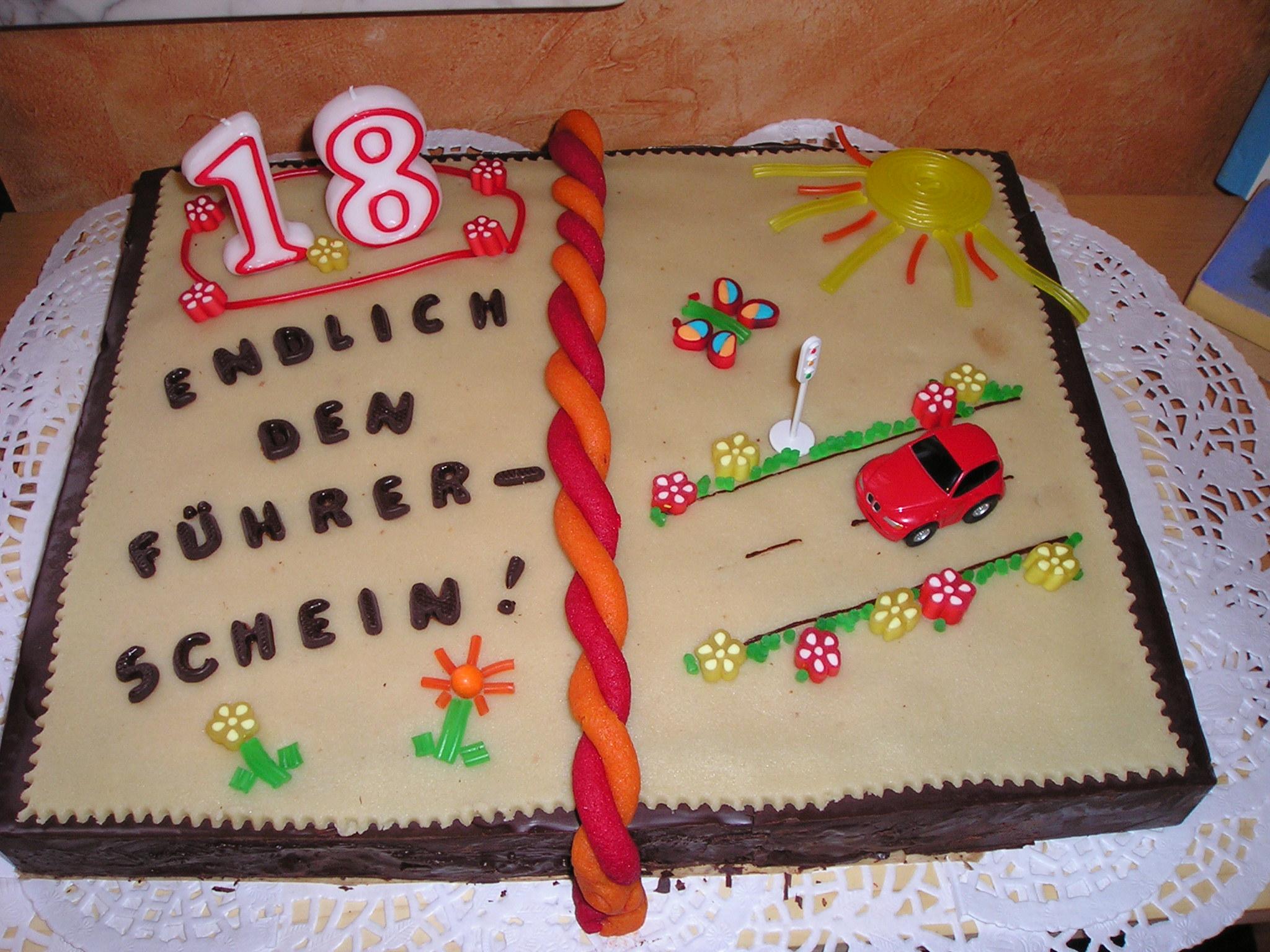 Geburtstag erwachsene 18 geburtstag f hrerschein for Kuchen 18 geburtstag