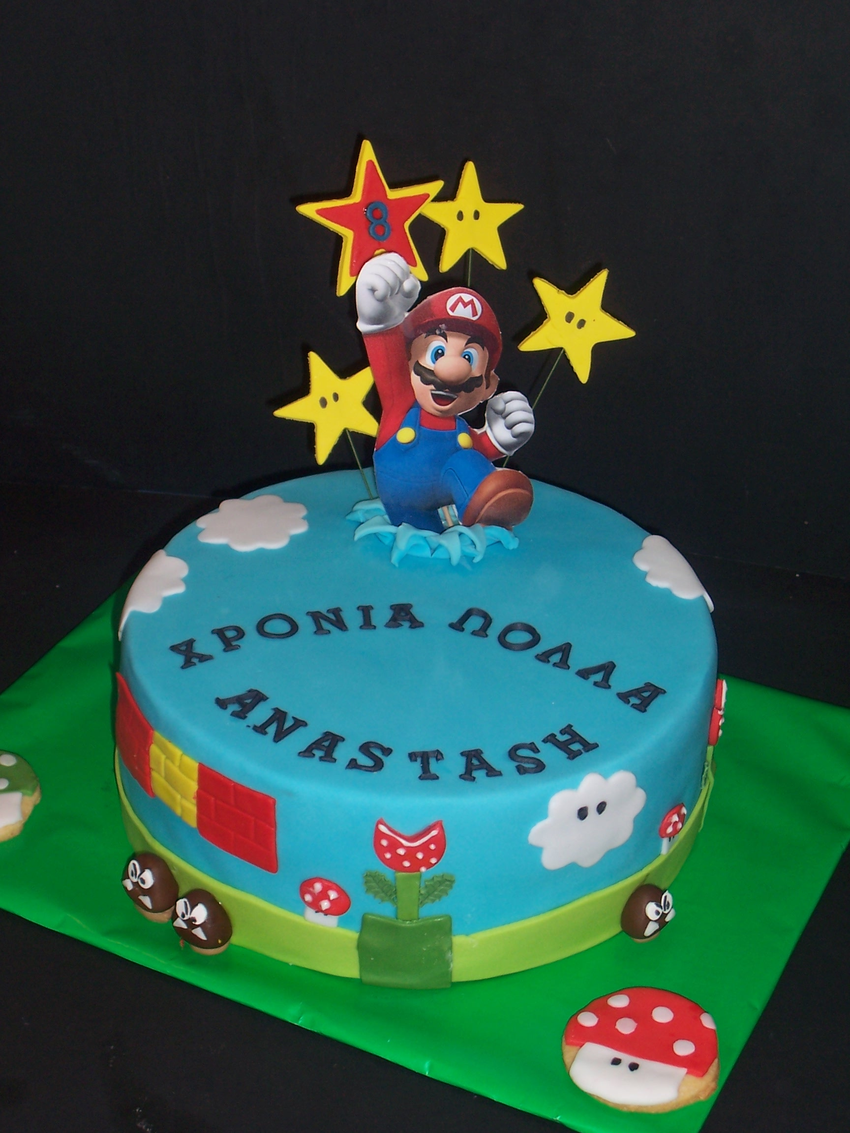 geburtstag kinder super mario torte. Black Bedroom Furniture Sets. Home Design Ideas