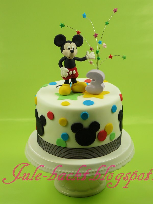 geburtstag kinder mickey maus torte zum 3 geburtstag. Black Bedroom Furniture Sets. Home Design Ideas