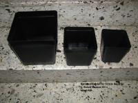 Die gelieferten Töpfe - Je 300 >> 18x18x18 13x13x13 und 11x1