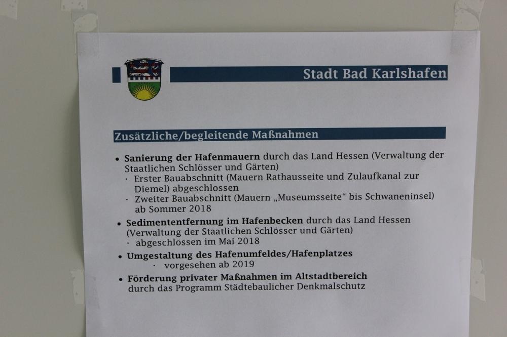 Information der Stadt Bad Karlshafen zum Hafenprojekt