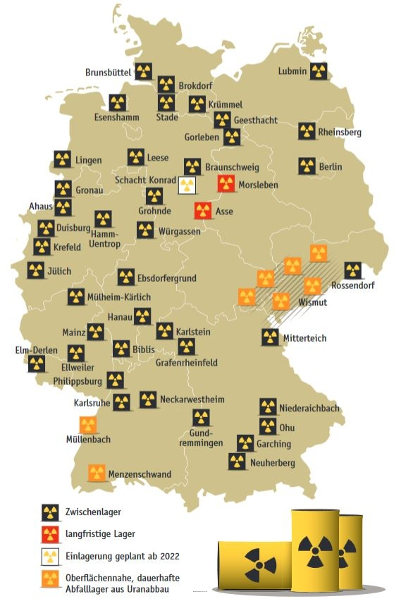 Atommüll Endlager Deutschland Karte