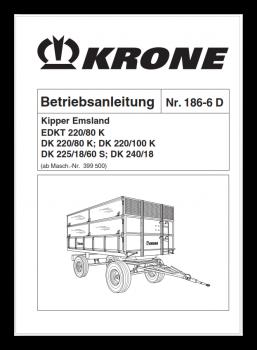 Betriebsanleitung KRONE-Kipper Emsland DK-Serie