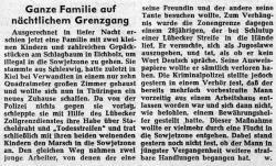 Zeitungsbericht GANZE FAMILIE AUF NÄCHTLICHEM GRENZGANG in Lübecker Nachrichten vom 7.4.1959.jpg