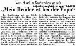 Zeitungsartikel MEIN BRUDER IST BEI DER VOPO in Lübecker Nachrichten Nr. 90 vom 18.4.1959.jpg