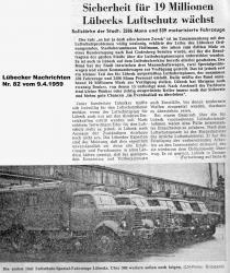 Zeitungsartikel Lübecks Luftschutz wächst - LN vom 9.4.1959 Seite 1.jpg