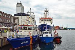 Bundespolizeiboote am 13.7.2019 im Hafen von Neustadt Holstein.jpg
