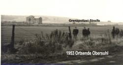 1953 Grenzpolizei-Streife Ortsende Obersuhl.jpg