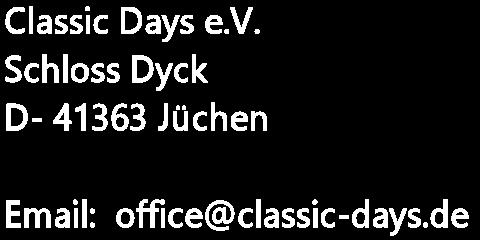 Classic Days - Kontakt