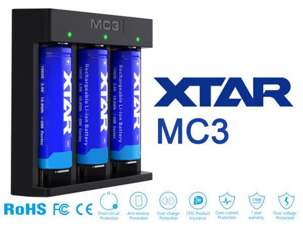 XTAR MC3 Lithium Ionen Ladegerät für Rundzellen_1.jpg