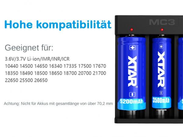 XTAR MC3 Lithium Ionen Ladegerät für Rundzellen_2.jpg