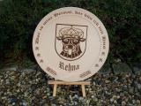 Holzteller Wappen von Rehna