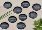 Gartensteine mit Pflanzennamen