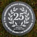 Gravierte Steinplatte mit Wunschgravur zum Dienstjubiläum