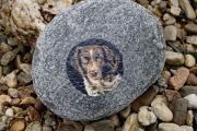 Foto auf Stein gedruckt, bedruckter Stein