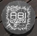 Steinplatte ABI als Erinnerungsstein