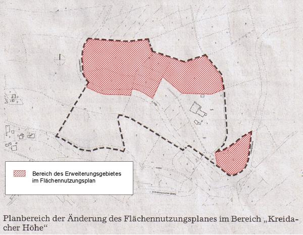 Erweiterung FNPlan Kreidacher Hoehe