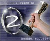 2.Platz Besucheraward 03/2009