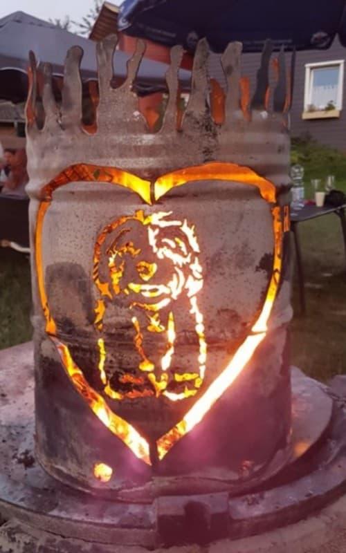 Havaneserherzen Feuertonne das Geschenk unseres Havaneserforum