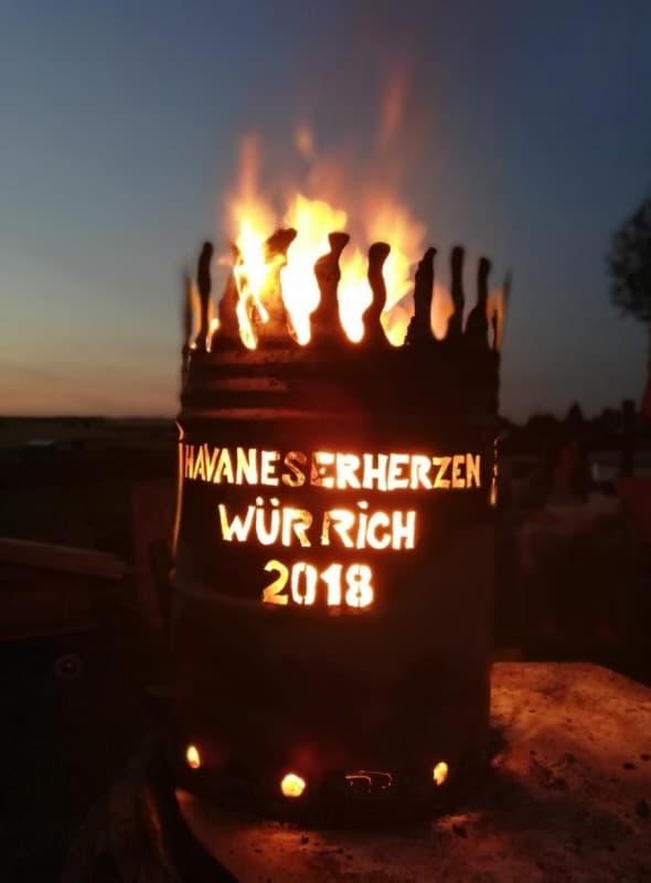 Havaneserherzen Würrich 2018, was eine coole Feuertonne
